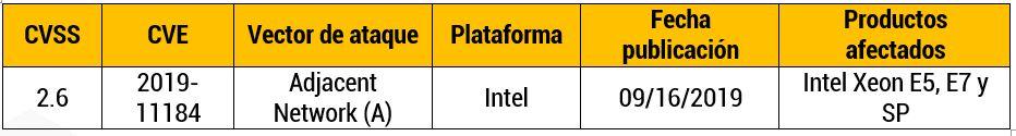 Nuevo ataque de robo de datos a las CPU desarrolladas por Intel